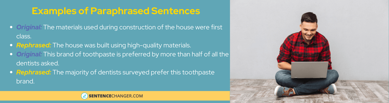 examples of sentences rephrased by sentence rephraser