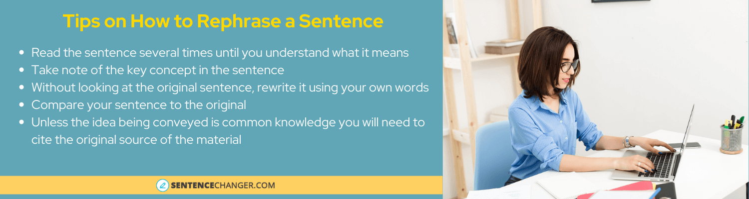 how to rephrase my sentence