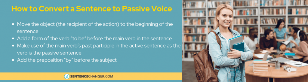 how to translate sentences to passive voice