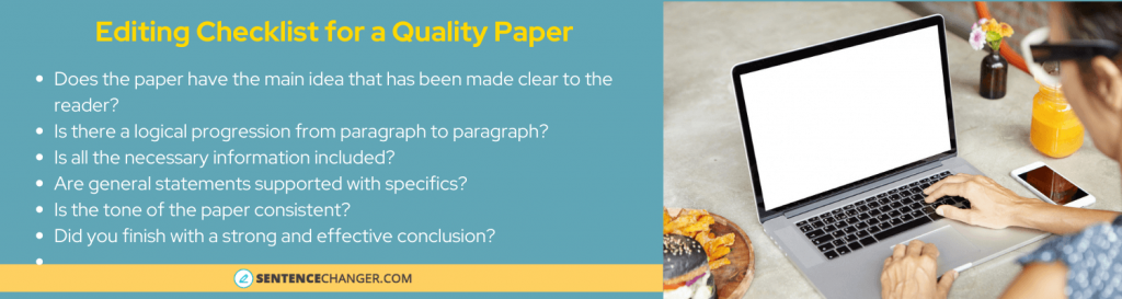 paper revision checklist