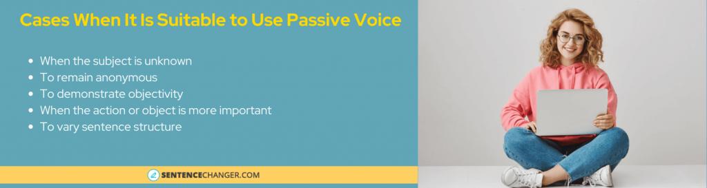 when yo use passive voice